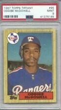 1987 Topps Tiffany baseball card #95 Oddibe McDowell, Texas Rangers graded PSA 9