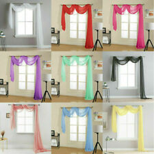 Voile Scarves  ~ Net Curtains Swags & Scarf Voile Panel Various Colours
