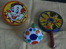 3 Vintage 1950's (2) Kirchhof Tin Noise Maker Life of the Party Dancers Clown
