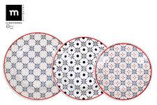 Drops 18 Piece Ceramic Porcelain Dining Dinner Service Set Plates