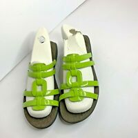 Clarks Privo Womens Green Sz 8 M Slip On Sandals Slides Shoes