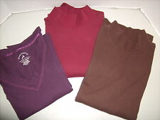 White Stag Womens Knit Tops Long Sleeve Lot of 3 size Womens XL 16-18