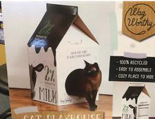 Cardboard Cozy Cat Playhouse CUBBY HOUSE, WAG WORTHY Free Post