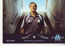 FOOTBALL carte entraineur ALBERT EMON équipe  MARSEILLE