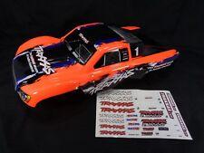 NEW Traxxas Slash 1/10 2wd 4x4 Orange Blue Black Painted Body Shell VXL Decals