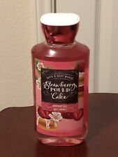 bath and body works strawberry pound cake shower gel shea vitamin e 10 fl oz new