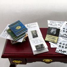 PINKERTON DETECTIVE Books Miniature Books 1:12 Scale Dollhouse Illustrated Book