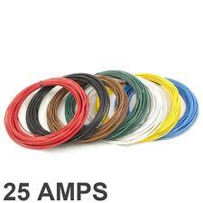 25 Amp bewertete 2mm2 dünn Wand einzeln Bohrer Kabel / Kabel - 7 Farbe Auswahl