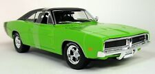 Maisto 1/18 Scale - 1969 Dodge Charger R/T Lime Green Diecast Model Car