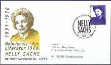 BRD 1991: Nelly Sachs! FDC del N. 1575 con Bonner timbro speciale! andate! 157