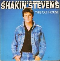 "SHAKIN' STEVENS this ole house/let me show you how EPC 9555 uk 1981 7"" PS EX/EX"