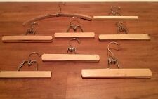 8 Vintage Wooden Hangers - Harmony House, Nevco Lady, A.E. Anderson Tailors etc