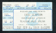 1981 Eric Clapton concert ticket stub Meadowland Another Ticket I Can't Stand It