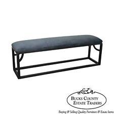 Custom Black Painted Long Bench (A)