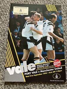 Port Vale v Manchester United 1994 PAUL SCHOLES DEBUT