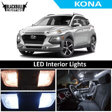 White LED Interior Lights Accessories Replacement Kit fits 2018 Hyundai Kona
