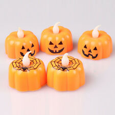 Halloween LED Flameless Candles Pumpkin Spider Web Fake Candles Party Decoration
