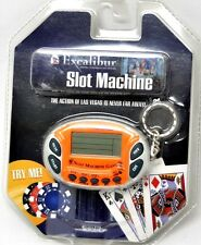 Excalibur Mini Slot Machine Keychain Casino Electronic Game Handheld K572 New