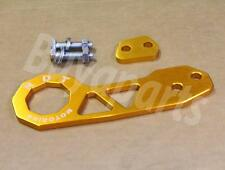 2nd GEN GOLD Anodized Aluminum Rear Tow Hook for 1988-1991 Honda Civic EF CRX