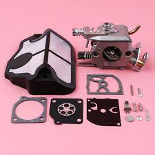 Carburetor Carb Rebuild Kit For Husqvarna 136 137 141 142 Chainsaw w/Air Filter