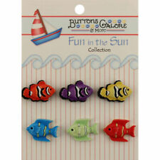 Dress It Up Buttons At The Beach  #412 Apx 8 Pcs