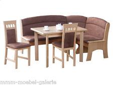 Große Eckbank Eckbankgruppe Essgruppe Tisch Stühle Buche natur braun 180 x 145