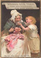 Victorian Trade Card-Warner's Safe Yeast-Rochester, NY-Girl & Grandma