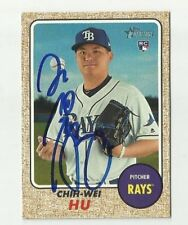 Tampa Bay Rays CHIH-WEI HU  Signed 2017 Topps Heritage Card #645