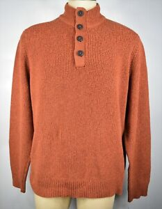 G.H. Bass & Co Men's Size 2XL Pullover Sweater Sherpa Mock Neck Brown