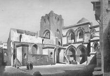 JERUSALEM Church of Holy Sepulcher - 1860s Antique Engraving Print