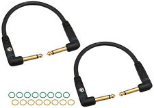 Planet Waves Custom Series Patch Cable - 2-Pack; right angle; 6""