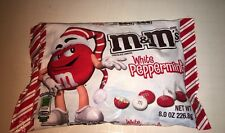 M & M's White Peppermint Chocolate Candies 8 Oz Bag