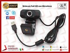 Webcam per Skype Risoluzione 1920X1080 1080P VideoCamera Windows MacOS Android