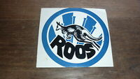OLD 1970s VFL FOOTBALL CLUB STICKER, NORTH MELBOURNE FC ROOS