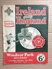 More details for northern ireland v england 1954