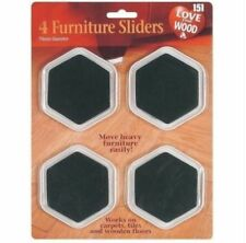 4 X Easy Furniture Sliders Fridge Sofa Cabinet Movers Moving Gliders-all Floors