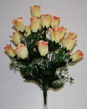 Bouquet Rose x 18  Fleurs Artificielles intérieur/extérieur