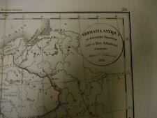 Carte de l' Empire allemand   par Delamarche - 1832 .