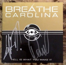BREATHE CAROLINA Hell Is What You Make It Ltd Ed Hand Signed RARE CD Booklet!