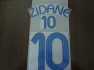 Flocage de ZIDANE pour maillot équipe de France blanc 2006 patch shirt