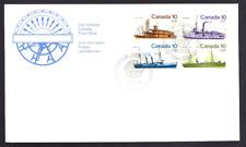 Canada # 700 -703 Block a   Inland Vessels        New 1976 Unaddressed