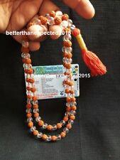 Natural SPHATIK Crystal & Rudraksha Mala- 108 1 Beads Japa Mala