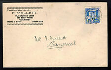 1944 Guernsey Channel Islands Occupation Cover St Sampson's Stage Coach Motor