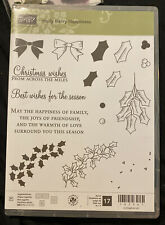 Stampin Up Clear Stamp Set Holly Berry Happiness