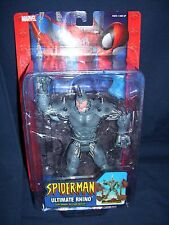 Spider-Man Ultimate Rhino Toy Biz 2004 with Smash and Crush Action New In Box