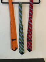 Brooks Brothers 346 100% Silk 3 Tie Lot All In Excellent Used Condition