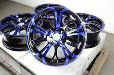 "17"" Blue Effect Wheels Rims 4 Lugs Ford Escort Honda Civic Accord Corolla Jetta"