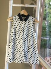 Lovely •Country Road• Polka Dots Peter Pan Collar Top Blouse Size XS EUC