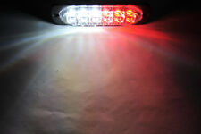 12 LED Emergency Light Bar Red/White Truck Hazard Beacon Strobe Flash Warn Lamp