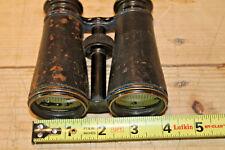 Vintage Lemaire Fabt Paris Brown Leather Binoculars / Opera Glasses